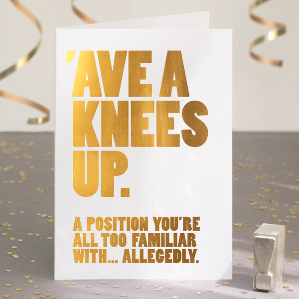 Gold Foil Funny Birthday Card / SECOND