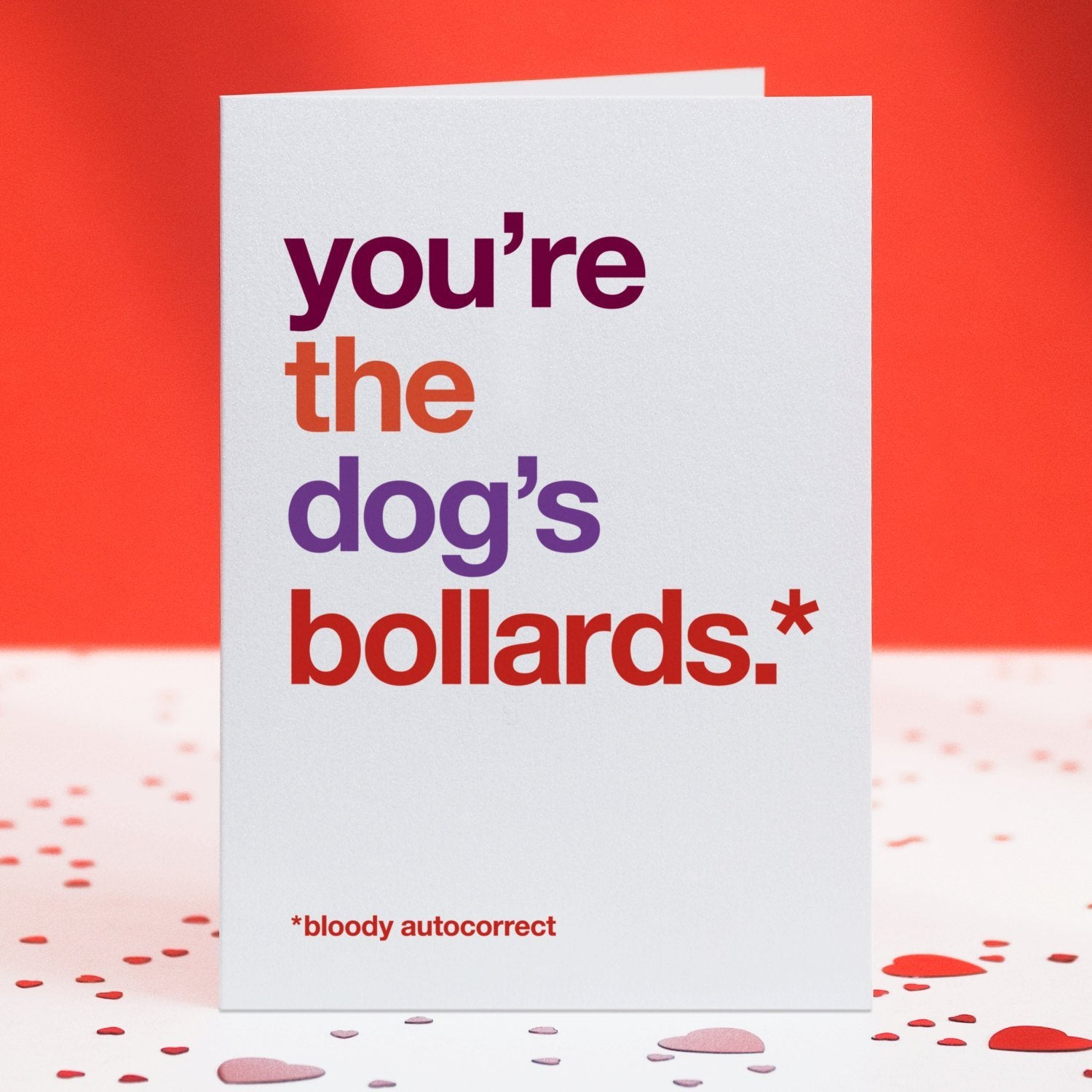 Autocorrect 'Bollards' Funny Love Card / SECOND