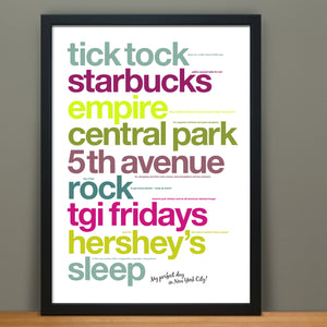 Personalised Perfect Day Print