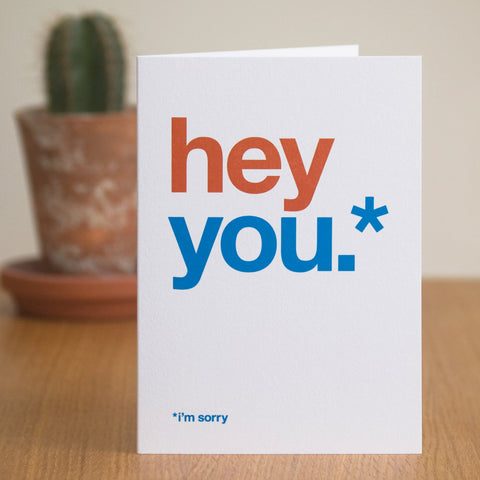 Typographic 'I'm Sorry' Card
