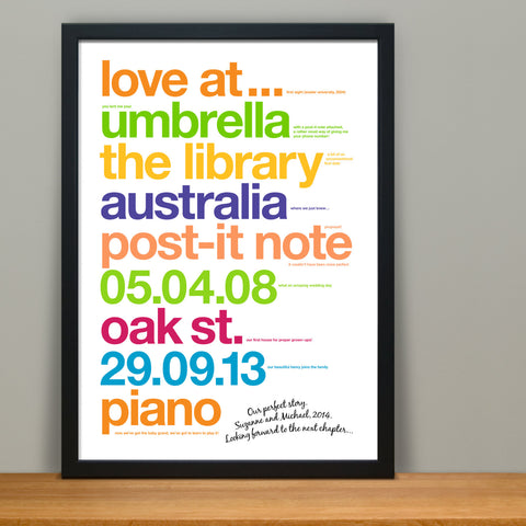 Personalised Love Story Print