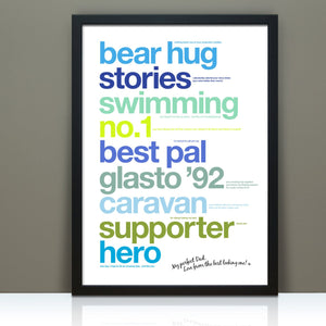 Personalised Print For Dad
