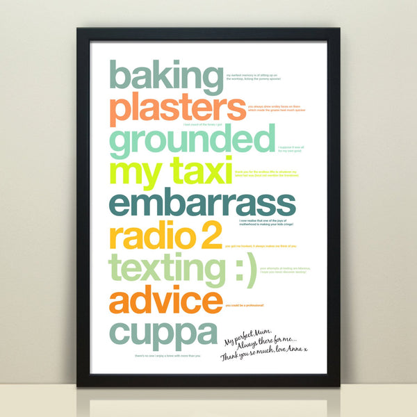 Personalised Print For Mum