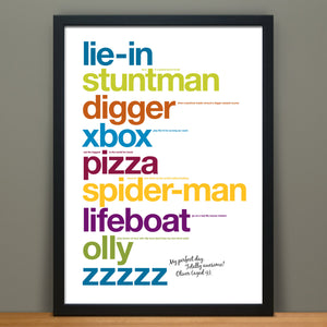Personalised Print For Kids