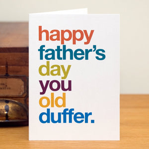 'Old Duffer' Funny Father's Day Card / SECOND