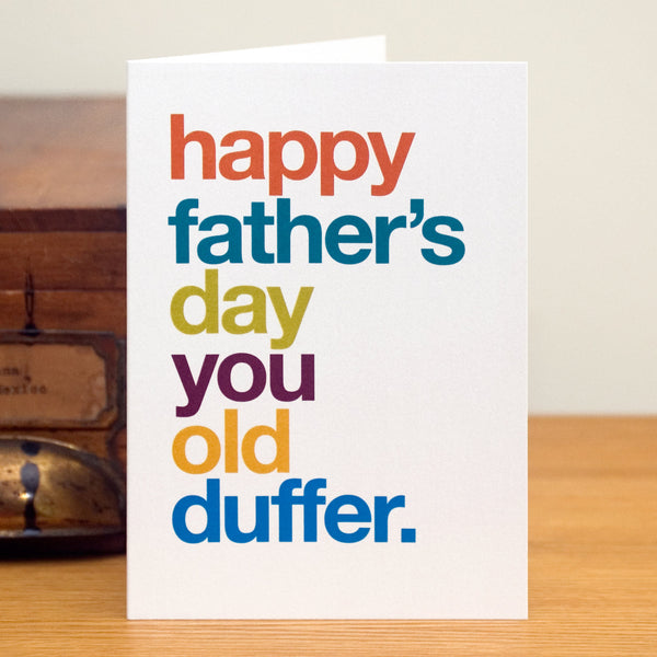 'Old Duffer' Funny Father's Day Card
