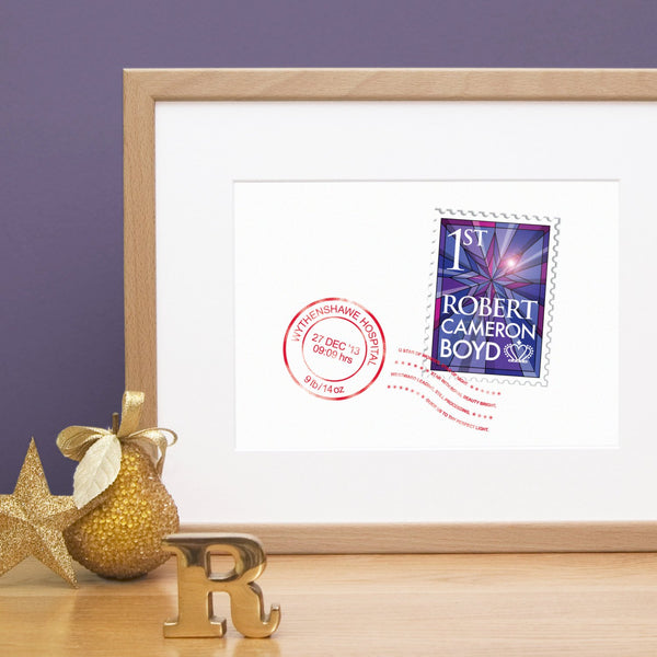 Personalised Christmas New Baby Print