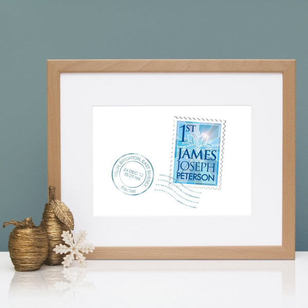 Personalised New Christmas Baby Print