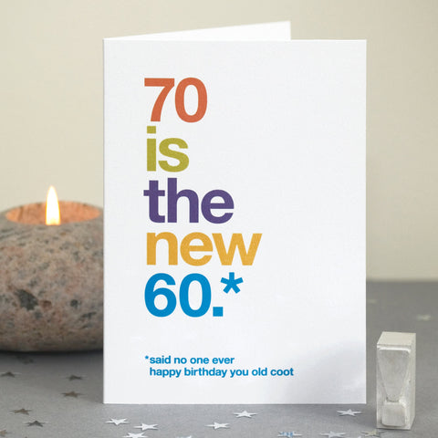Funny 70th Birthday Card / SECOND