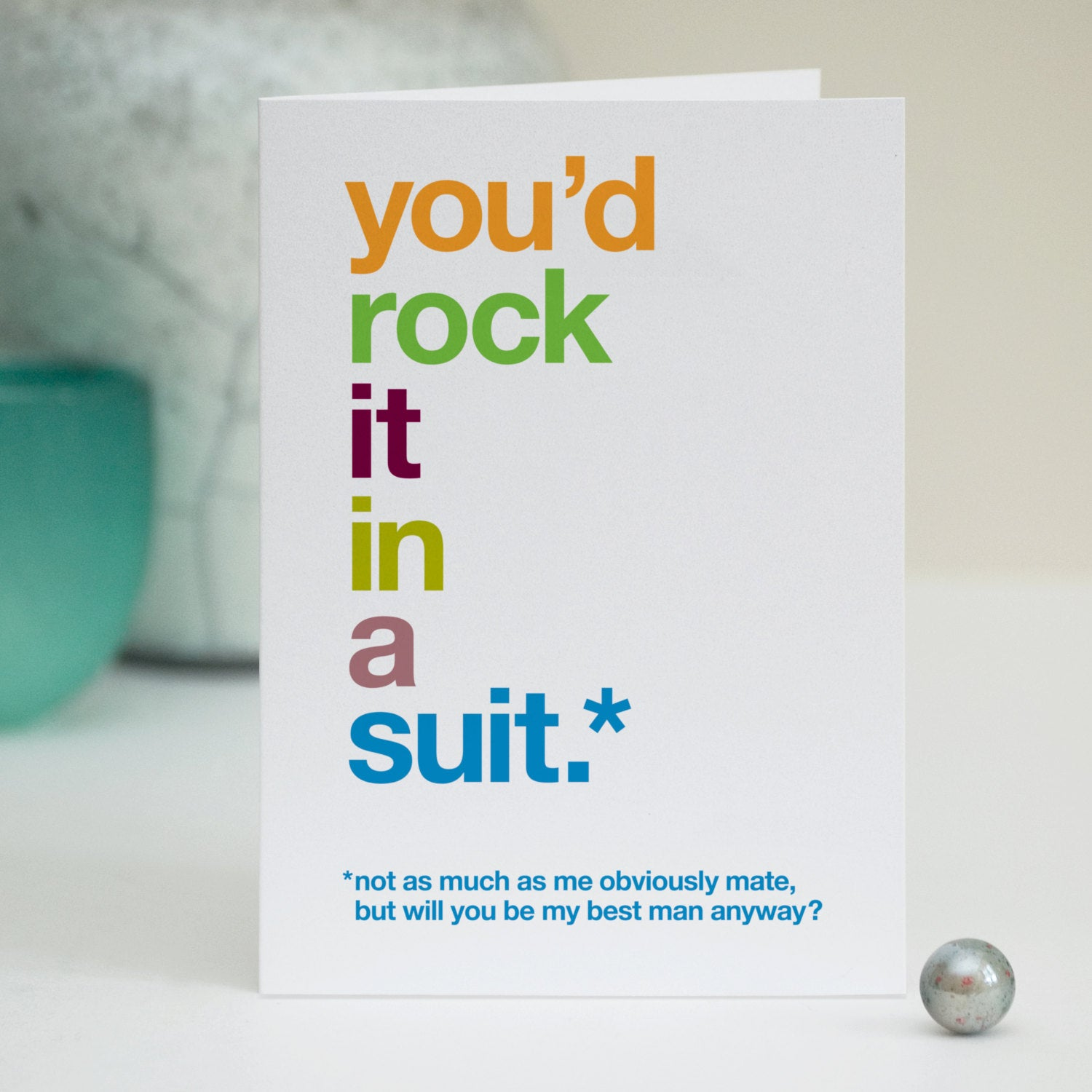 Funny 'Will You Be My Best Man' Card