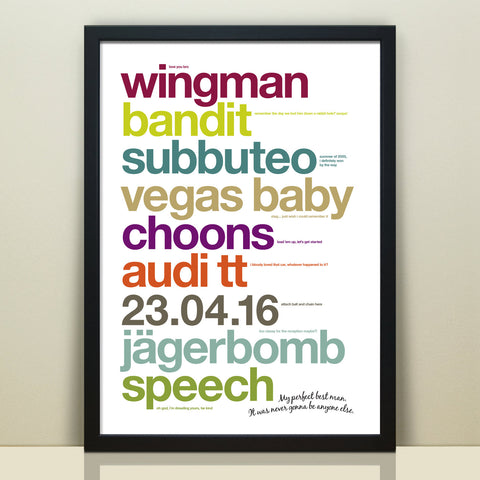 Personalised Best Man Thank You Print