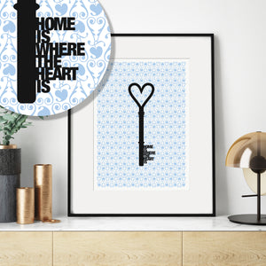 'Home Is Where The Heart Is' Housewarming Print / SECOND