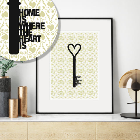 'Home Is Where The Heart Is' Housewarming Print