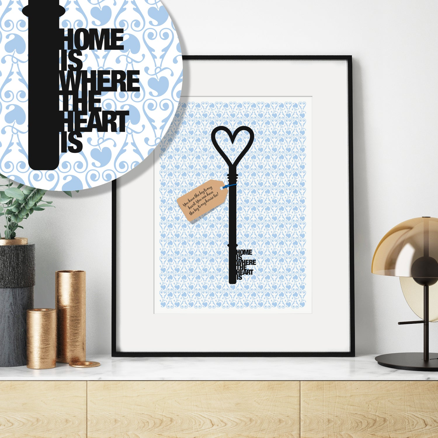 Personalised Key New Home Print