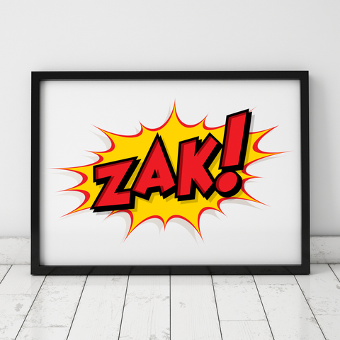 Personalised Comic Book Art Print