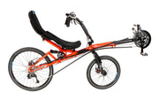 HP Velotechnik Street Machine GTe 30 Speed Pearl Orange Recumbent Bike