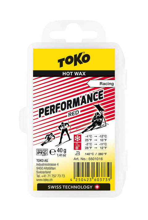 Toko Performance Racing Wax RED 40g