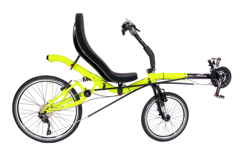 "Azub Six 26/20"" Neon Yellow Shiny Recumbent Bike"