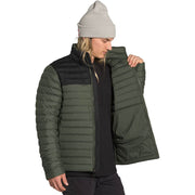 The North Face Men's Stretch Down Jacket New Taupe Green/TNF Black