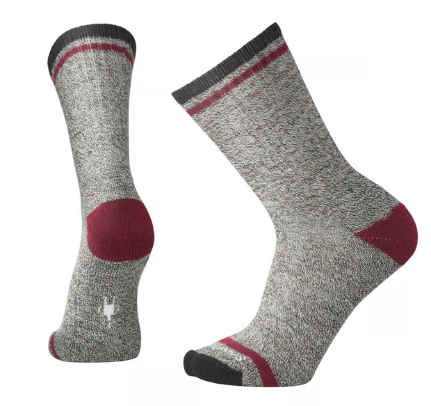 Smartwool Men's Larimer Crew Socks Charcoal Heather/ Tibetan Red