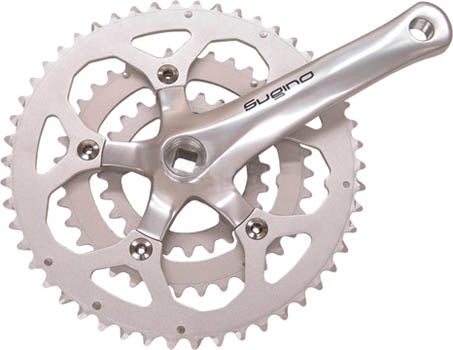 Sugino XD-600 110mm BCD Crankset with 152mm Crankarms