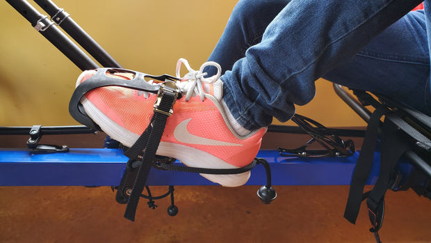 Hase Adult Pedal w/Toe Clip & Adjustable Heel Sling