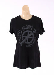 Hostel Shoppe Women's Custom Bicycle Logo T-Shirt