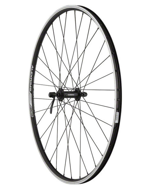 Quality Wheels Value Double Wall Series Front Wheel - 700, QR x 100mm, Rim Brake, Black, Clincher