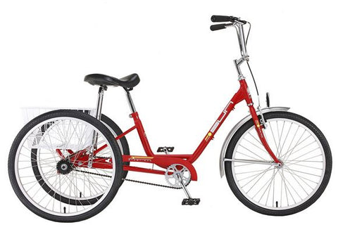 Sun Bicycles Adult Traditional Trike 3 Speed Red