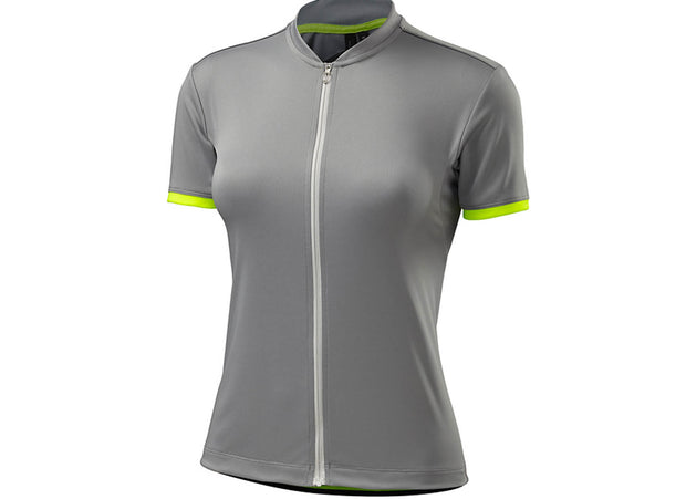 Specialized 2019 Womens Roubaix Sport SS Light Gray/Neon Yellow