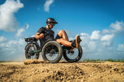 Sun Seeker e-FatTad 24 Speed Dark Green Recumbent Trike