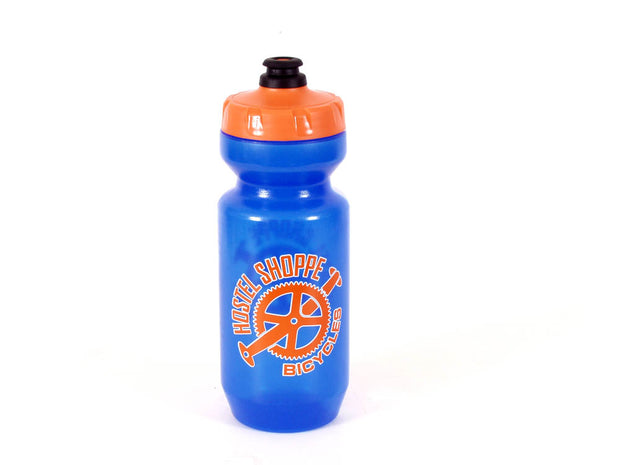 Hostel Shoppe Purist Water Bottle with Logo Blue/Orange 22 oz