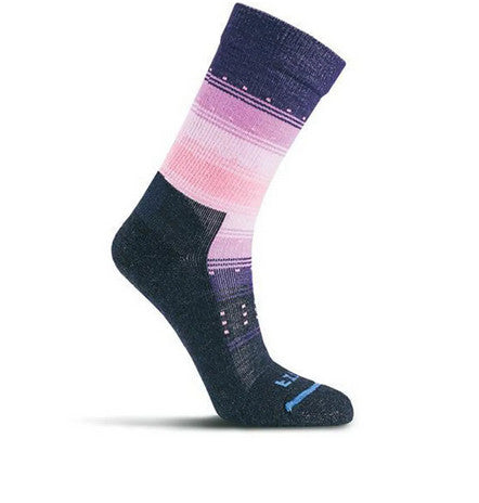 Fits Women's Casual Crew Sock Navy/Cashmere Rose