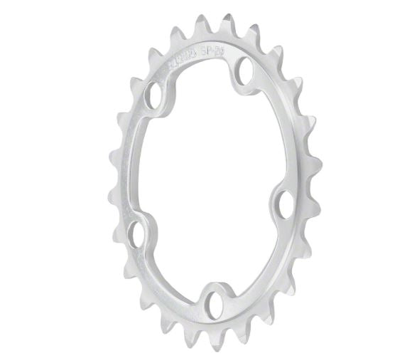 Sugino 26t x 74mm 5-Bolt Anodized Silver Chainring