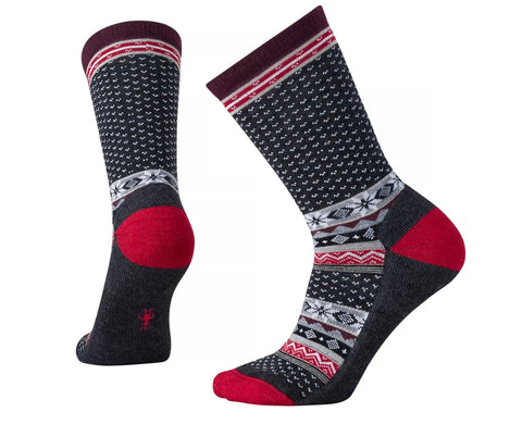 Smartwool Womens Cozy Cabin Crew Socks Charcoal Heather