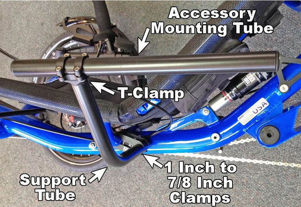 T-Cycle Catrike SeatSide Seat Mount Kit for Folding Trikes