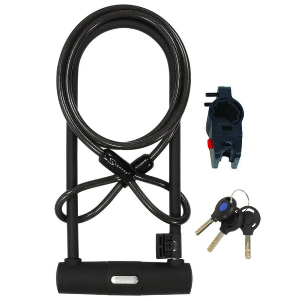 Serfas U Lock With Cable And Bracket