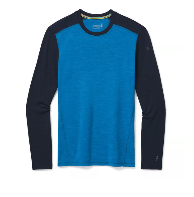 Smartwool Men's Merino 250 Baselayer Crew NEPTUNE BLUE HEATHER-DEEP NAVY