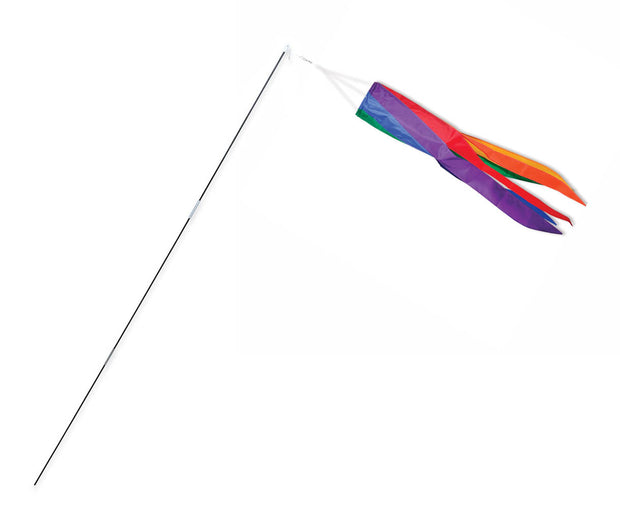 SoundWinds Rainbow Stripe Swirls Windsock Bike Flag