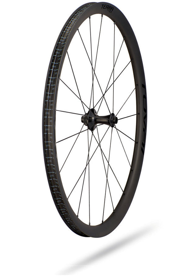 Specialized Roval Terra CLX HG Front Wheel Satin Cbn/Gloss Blk 700c