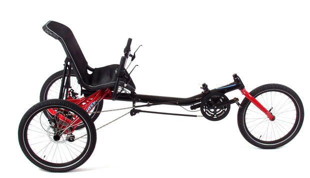 Hase Trigo USS 24 Speed w/Chainguard Red Recumbent Trike