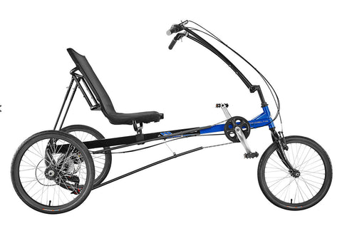 Sun Seeker Eco Delta SX 20/20 7 Speed Black/Blue Trike