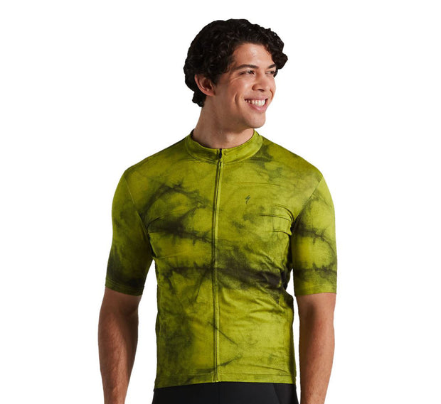 Specialized Mens RBX Marbled Jersey Hyper Green