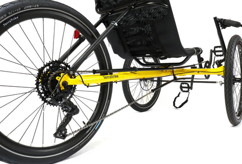 TerraTrike Rambler Wide Trike Yellow