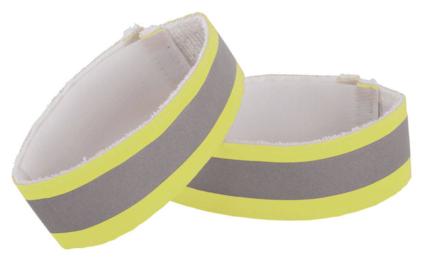 Nathan Reflective Ankle Band Pair Yellow