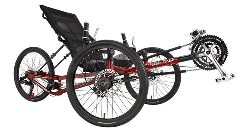 Sun Seeker EZ-TAD SX Trike 12 20/20 Fire Red