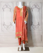 KORALLE - AN EXTREMELY BEAUTIFUL SILK OUTFIT WITH GOTA WORK