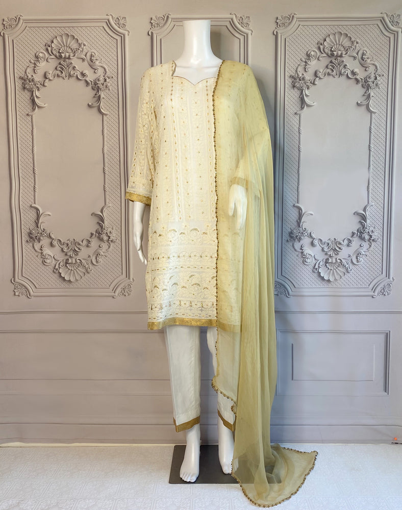 VENERE - A VERY BEAUTIFUL CHIKAN'KARI GHARARA OUTFIT