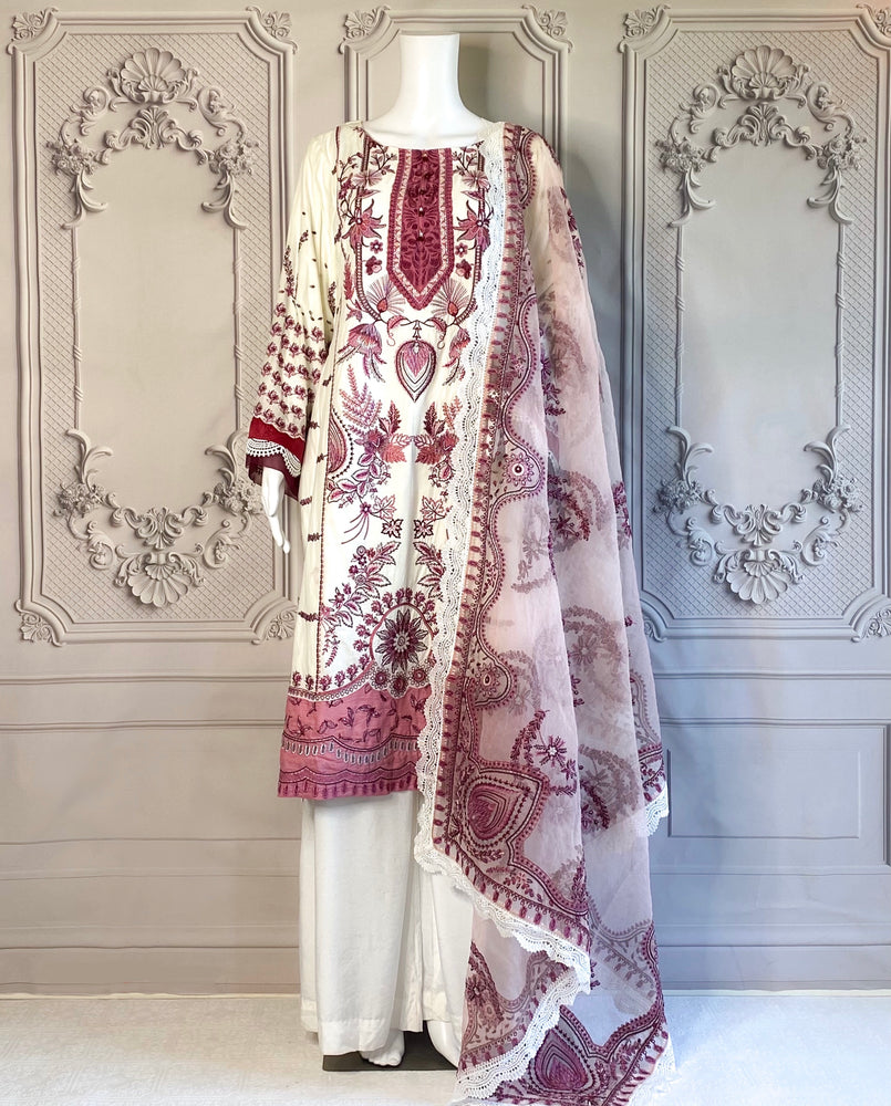 TISHALA - A VERY PRETTY DRESS WITH MARORI AND KASHMIRI EMBROIDERIES