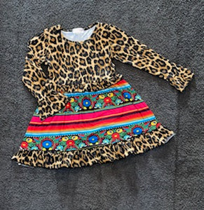 Serape Leopard Floral Dress